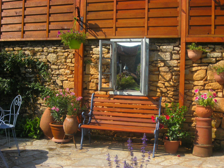 Mirori de jardin - Fenêtre trompe l'oeuil (4)
