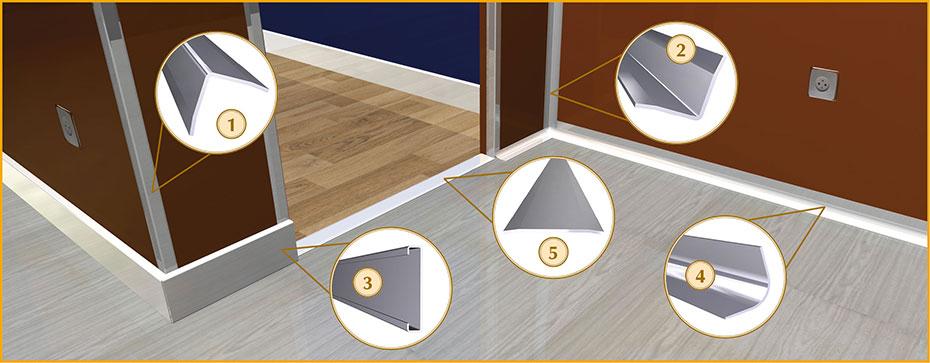 Les baguettes d'angle ou les profilés de protection d'angle