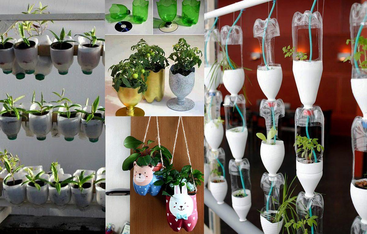 Bricoler un vase écologique avec une bouteille en plastique