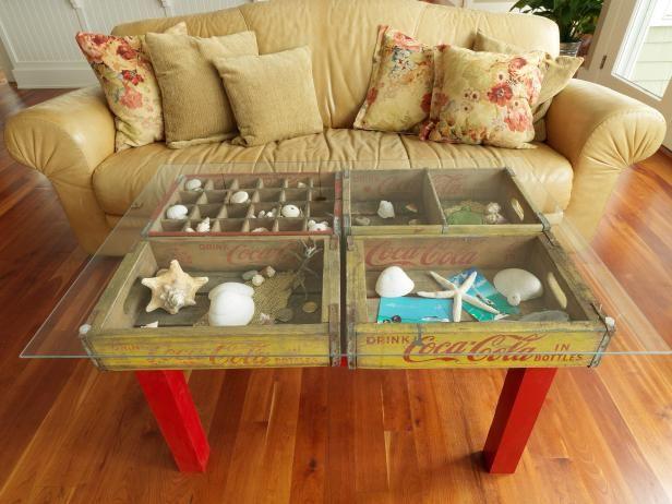 Comment faire une table à l'aide de vieilles caisses de soda en bois ?