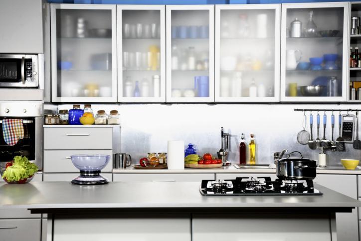 Porte d'armoire de cuisine en verre acrylique