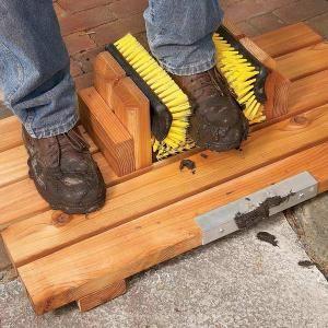 Gardez votre maison propre en vous bricolant ce gratte-botte anti-boue